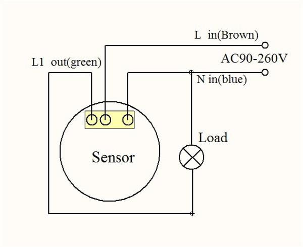 sensor de movimiento para conectar a un foco