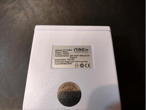 sensor de movimiento tbcin t7111000 180 grados blanco