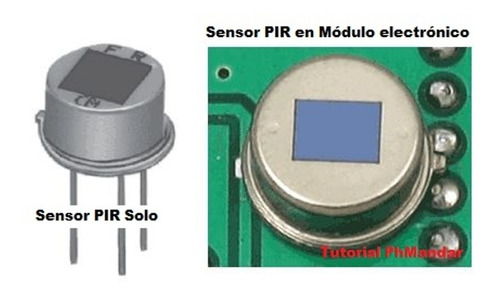 sensor de movimientos pir hc-sr501 infrarrojo, arduino, pic,