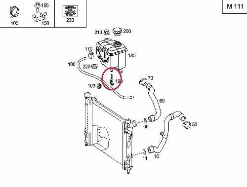 sensor de nivel de agua mercedes a160 1999-2004 original