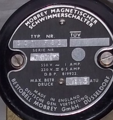 sensor de nivel por flotador bestobell mobrey made in englan