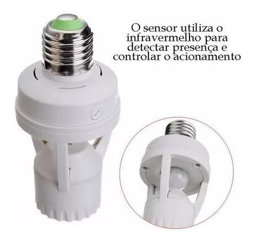 sensor de presença soquete e27 lâmpada iluminação