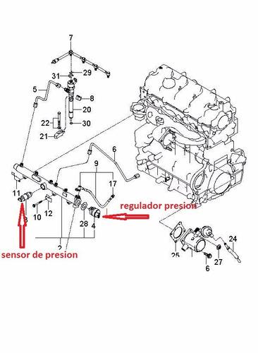 sensor de presión kia sporta active 2.0 crdi diesel
