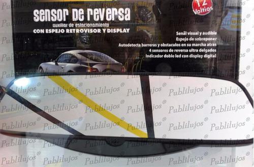 sensor de reversa con espejo retrovisor 4 sensores leer publ