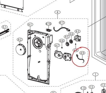 sensor de temperatura da32-10105h refrigerador samsung