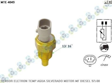 sensor de temperatura silverado 4.2 mwm 6 cilindros 97/01