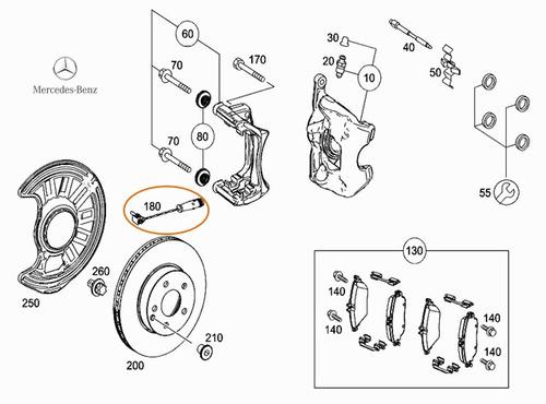 sensor desgaste de freno mercedes benz a 200 1.6