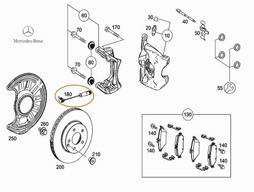 sensor desgaste de freno mercedes benz cla 45 amg 2.0