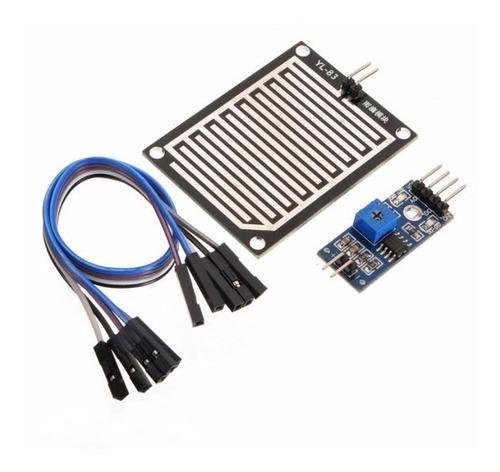 sensor detector de agua lluvia o liquido arduino