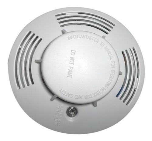 sensor detector de humo alarma incendio 110v +  bateria 9v