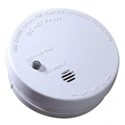 sensor detector de humo autónomo inalámbrico batería 9 volts