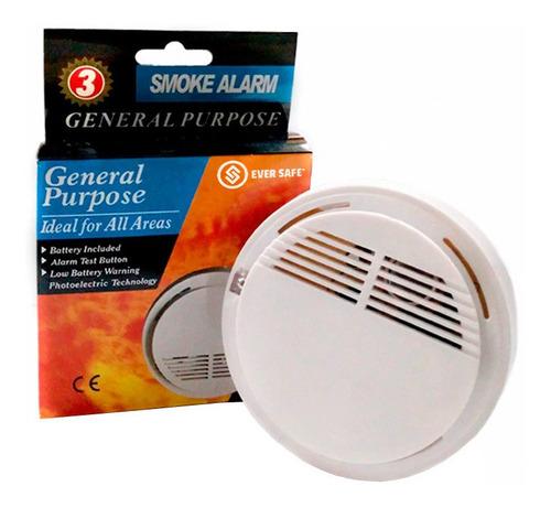 sensor detector de humo eversafe autónomo fotoeléctrico