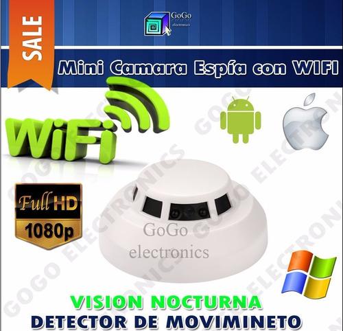 sensor detector de  humo wifi p2p vision nocturna fullhd 24h