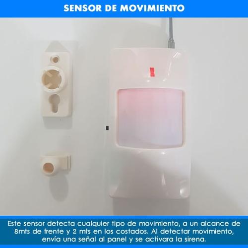 sensor detector movimiento inalambrico anti falsas alarmas