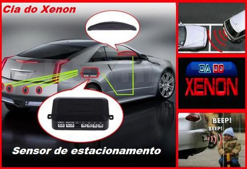 sensor estacionamento ré 4 sensores display - frete grátis