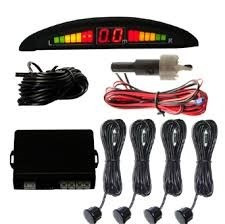 sensor estacionamento ré 4 sensores display led sinal sonoro