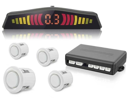sensor estacionamento ré corsa 4 pontos branco display led
