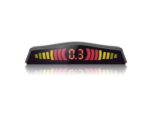 sensor estacionamento ré fiesta 4 pontos preto display led
