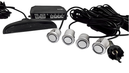 sensor estacionamento ré tucson 4 pontos prata display led
