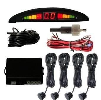 sensor estacionamento sinalização sonora e visual 4 sensores