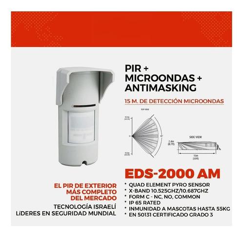 sensor exterior pet cableado  alarma domiciliaria casa kit