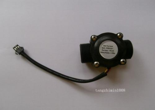 sensor flujo agua liquidos 1-60l/min 3/4 caudal fluidos