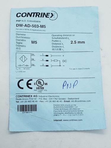 sensor indutivo contrinex dw ad 503 m5