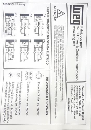 sensor indutivo weg sl4-12g1lp2
