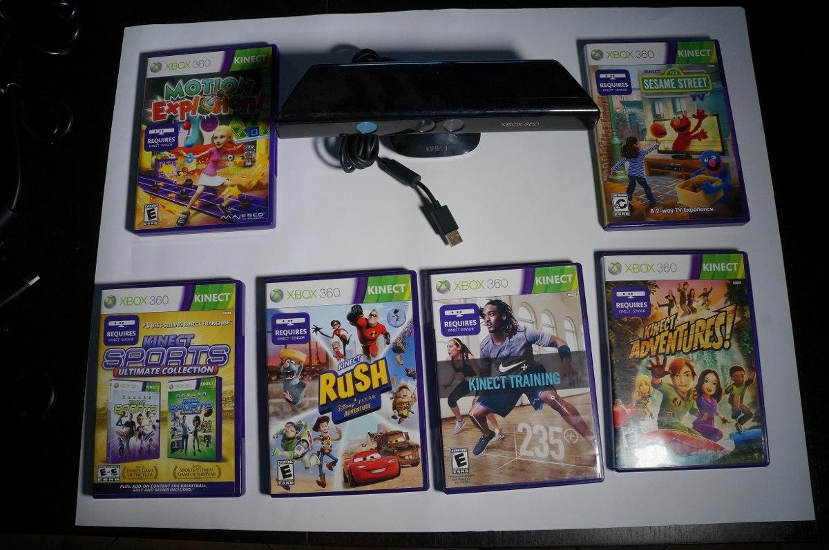 Camara Sensor Kinect Para Xbox 360 6 Juegos 1 300 00 En