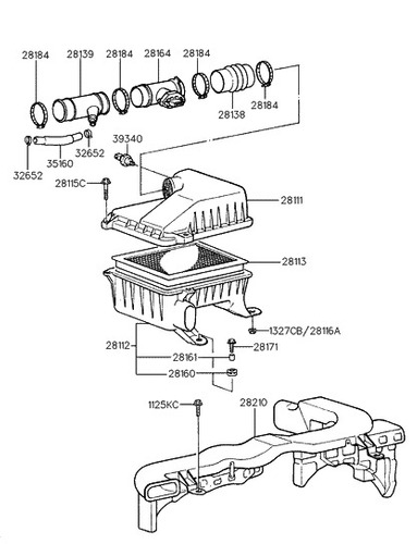 sensor maf flujo aire hyundai accent 1.5 original kefico *