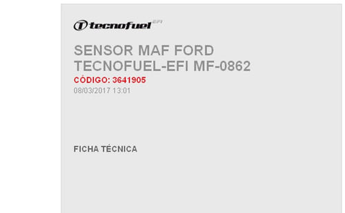 sensor maf ford escape 4cil 2.0l, 01-04, 6 cil 3.0l 01-03