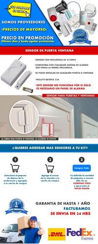 sensor magnetico puerta inalambrico alarma gsm casa negocio