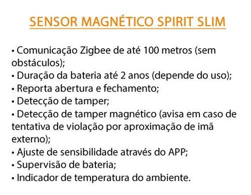 sensor magnetico slim s/ fio - spirit ppa alarmes