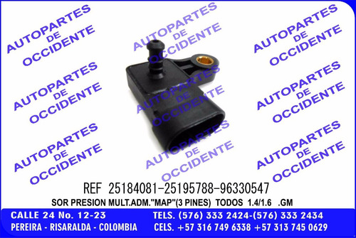 sensor map aveo optra cc1400/1600 25184081-96330547-25195788