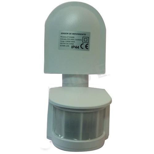 sensor movimiento 180° doble rotación zurich blanco