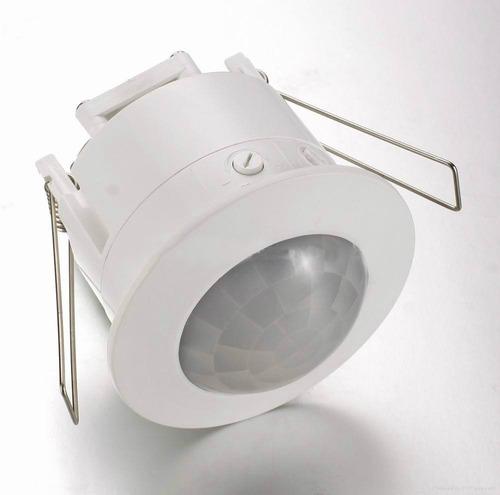 sensor movimiento 360° para embutir 10 cm diámetro