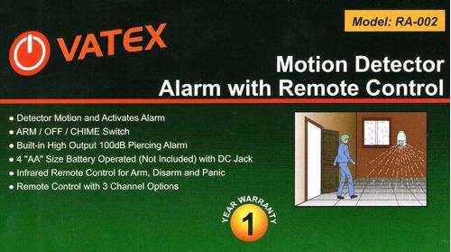 sensor movimiento alarma c/ control remoto y antipanico htec