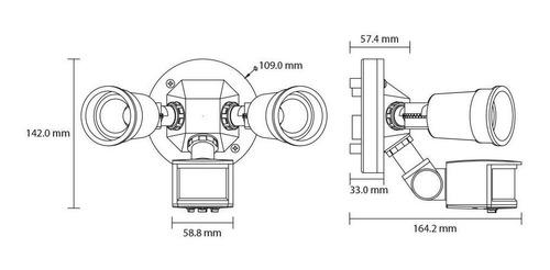 sensor movimiento infrarojo sobreponer se-2103.n illux