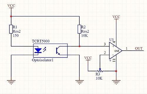 sensor optico reflectivo tcrt5000 para arduino, pic, avr etc