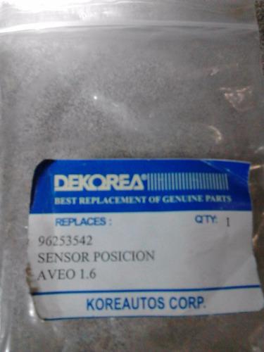 sensor posicion de cigueñal aveo 1.6 96253542