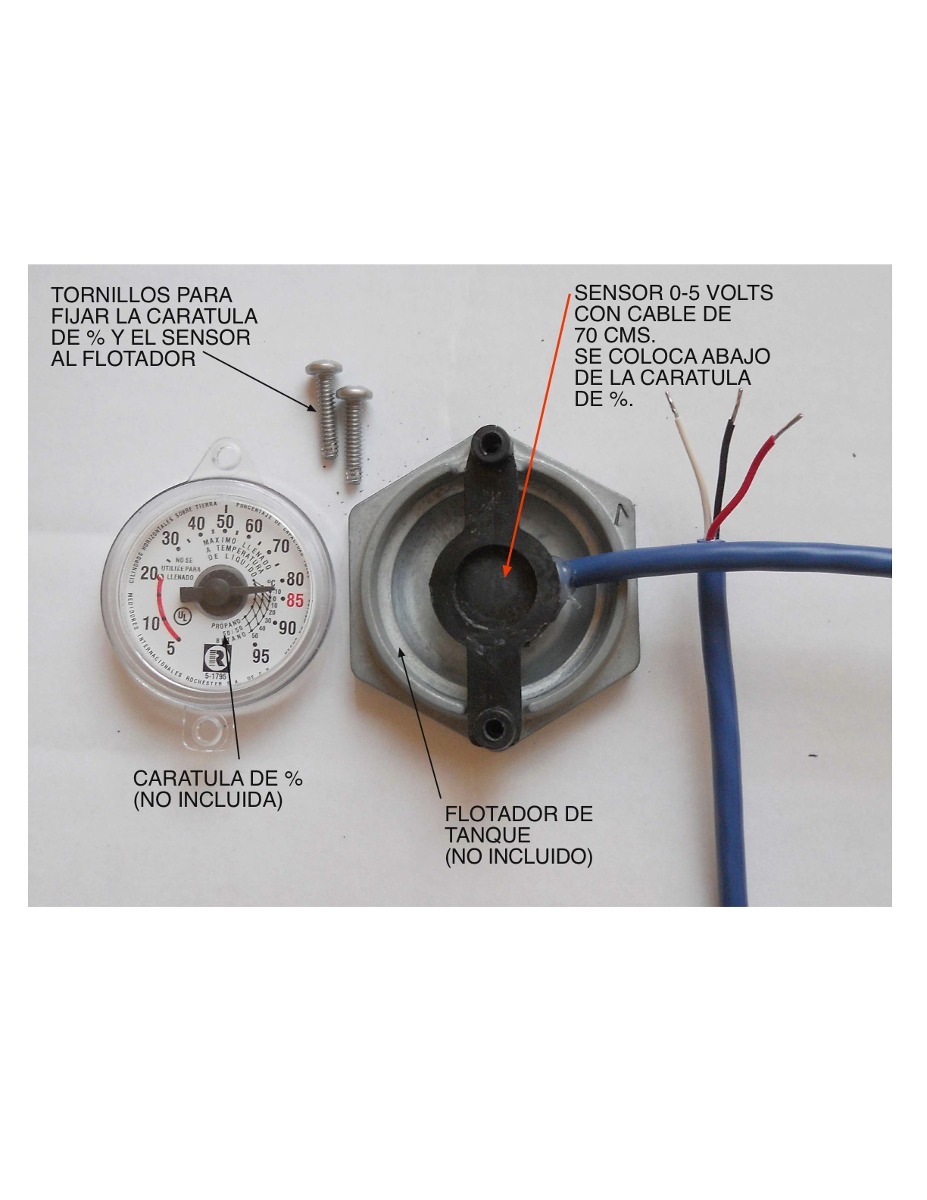 Sensor salida 0 5 volts para tanque estacionario de gas lp Tanque de gas estacionario