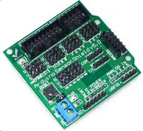 sensor shield v5 para arduino sensores servos motores