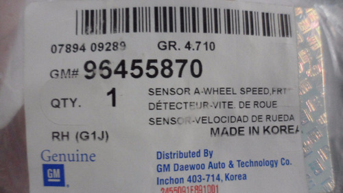 sensor velocidad rueda delt derecha optra 96455870