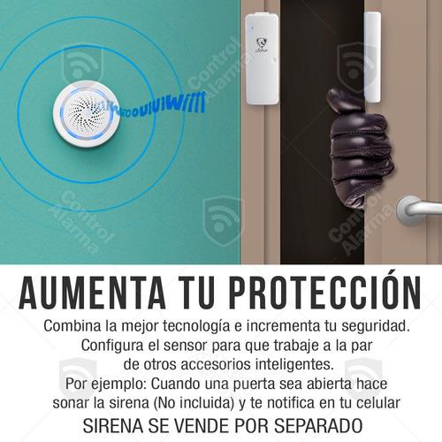 sensor wifi puerta ventana alarma casa inteligente alexa