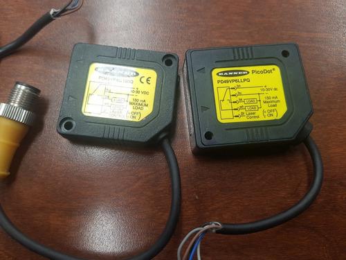 sensores laser banner pd45vp6c100q 3 pzas de modelo similar