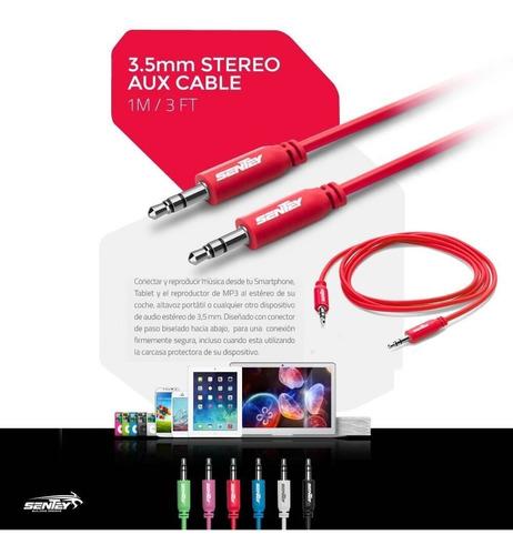 sentey ls-6603 cable auxiliar 3.5 mm a 3.5 mm estereo