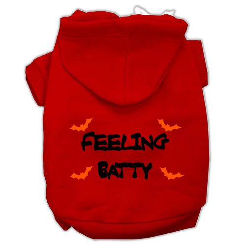 sentimiento chalado pantalla impresión pet hoodies rojo tam