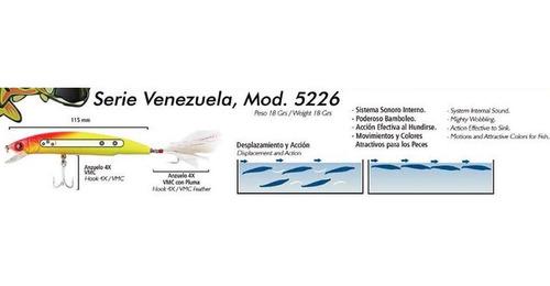señuelo media agua mod. venezuela vense 11.5 cm 18 grs