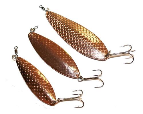 señuelo pesca chispa koster 60 grs (plata y bronce) rio