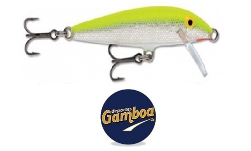 señuelo pesca rapala countdown 9cm silver chartreuse